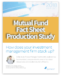 2018 Report: Mutual Fund Fact Sheet Production Study